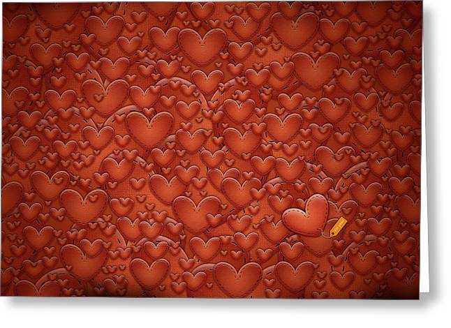 Love Patches Greeting Card by Gianfranco Weiss
