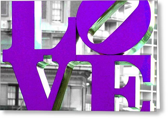 Love Philadelphia Purple Greeting Card