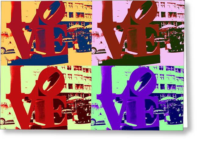 Greeting Card featuring the digital art Love Pop Art II by J Anthony