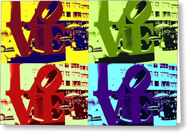 Greeting Card featuring the digital art Love Pop Art by J Anthony