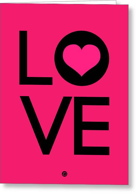 Love Poster 5 Greeting Card by Naxart Studio
