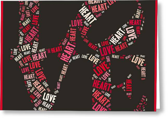 Love Quatro Heart - S111b Greeting Card by Variance Collections