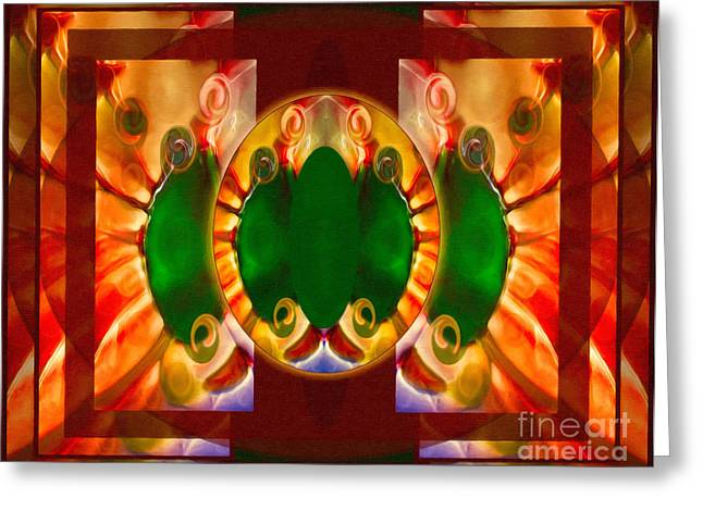 Love Reborn Into Life Abstract Healing Art Greeting Card by Omaste Witkowski