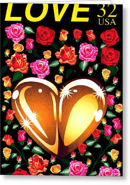 Love Stamp Greeting Card by P Dwain Morris