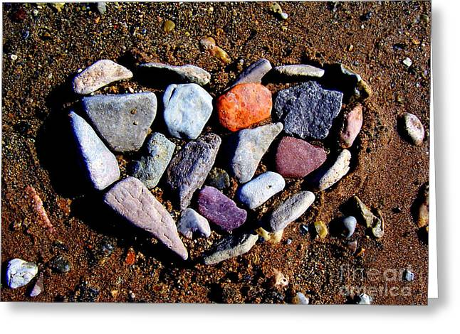 Love Stones Greeting Card by Janice Westerberg