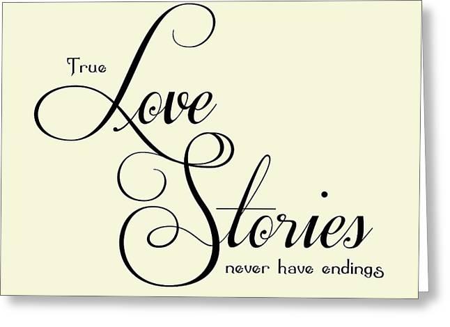 Love Stories Greeting Card by Jaime Friedman