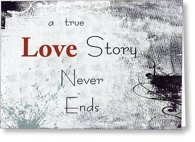 Never Ending Story Greeting Card by Ella Kaye Dickey