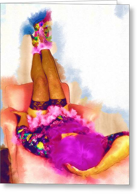 Love Those Sexy Shoes 1 Greeting Card by Cindy Nunn