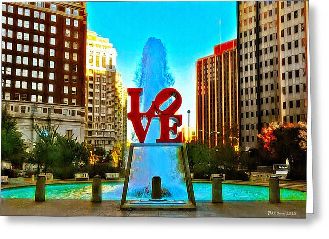 Love Town Greeting Card by Bill Cannon