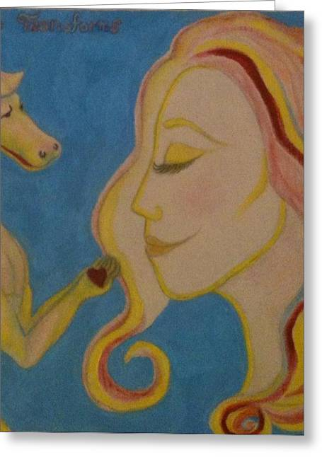 Love Transforms Greeting Card by Felicia Roberts