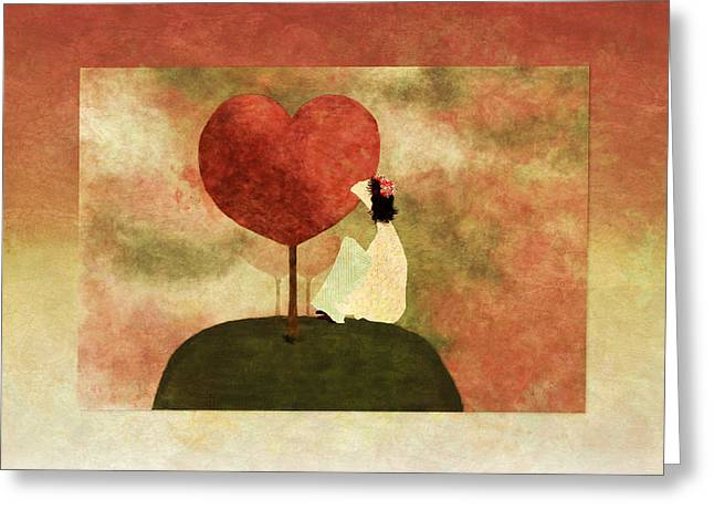Love Tree -01b Greeting Card by Variance Collections