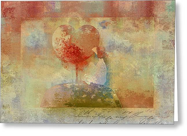 Love Tree - Pst02z01 Greeting Card by Variance Collections