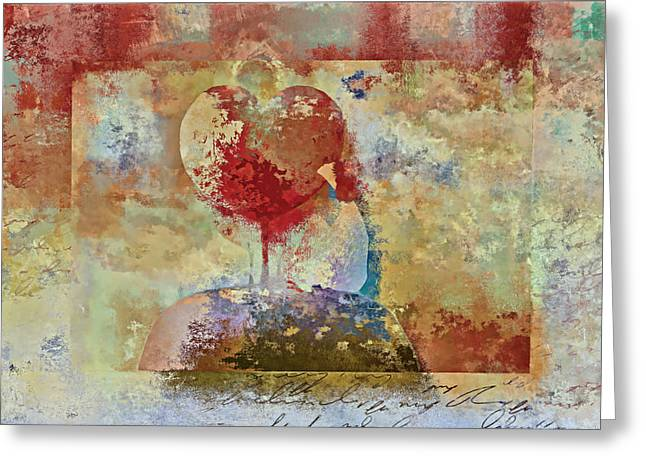 Love Tree - Pst03x01 Greeting Card by Variance Collections