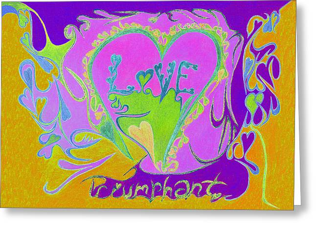 Love Triumphant V3 Greeting Card by Kenneth James