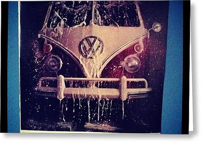 Love Vw Ads🚌 #vw#bus#vintage#ads Greeting Card