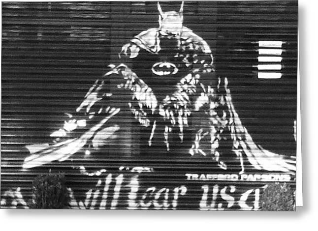 Love Will Tear Us Apart #batman Greeting Card