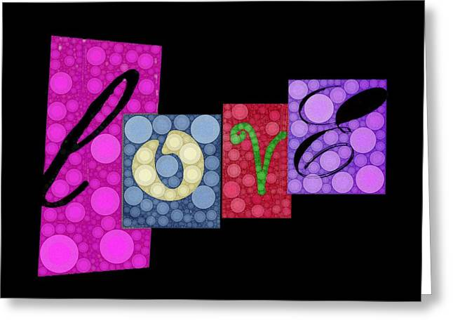 Love You Greeting Card by Cindy Edwards