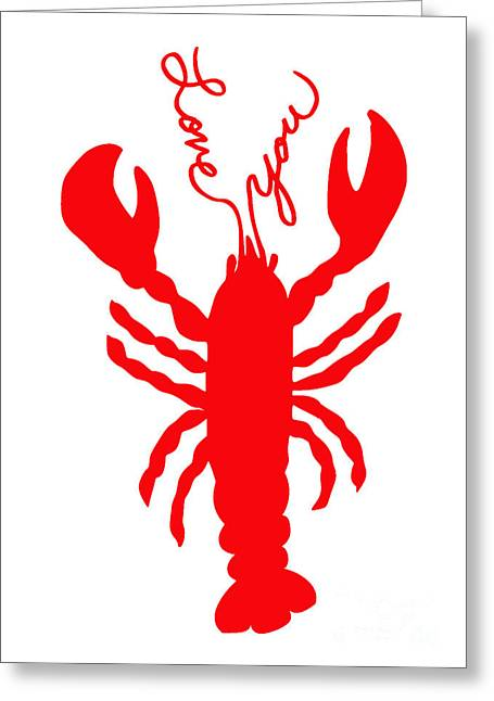 Love You Lobster With Feelers Greeting Card by Julie Knapp