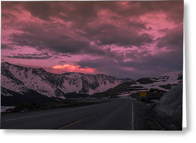 Loveland Pass Sunset Greeting Card