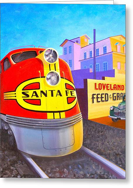Loveland's Feed And Grain Greeting Card by Alan Johnson