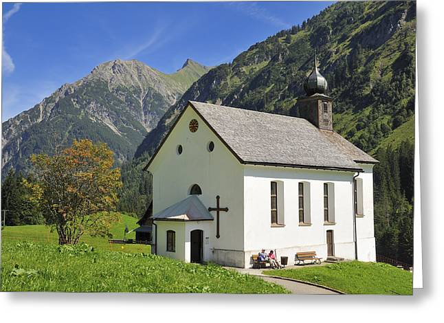 Lovely Church In Beautiful Mountain Landscape Greeting Card by Matthias Hauser