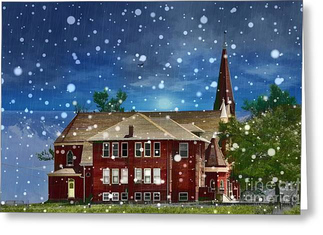 Lovely Country Church Greeting Card by Liane Wright