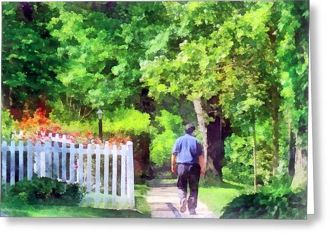 Lovely Day For A Walk Greeting Card by Susan Savad