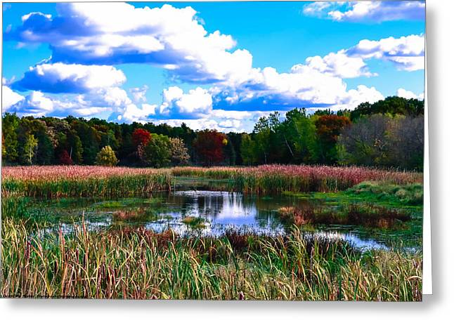 Lovely Day Greeting Card by Michelle and John Ressler
