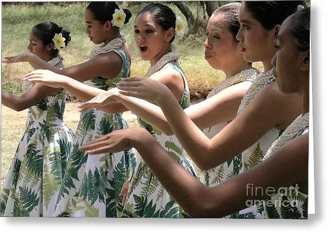 Lovely Hula Hands Greeting Card