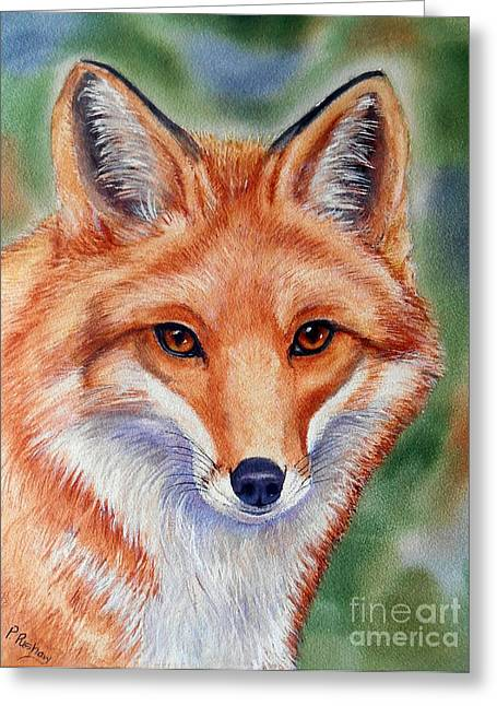 Lovely Lady Greeting Card by Patricia Pushaw