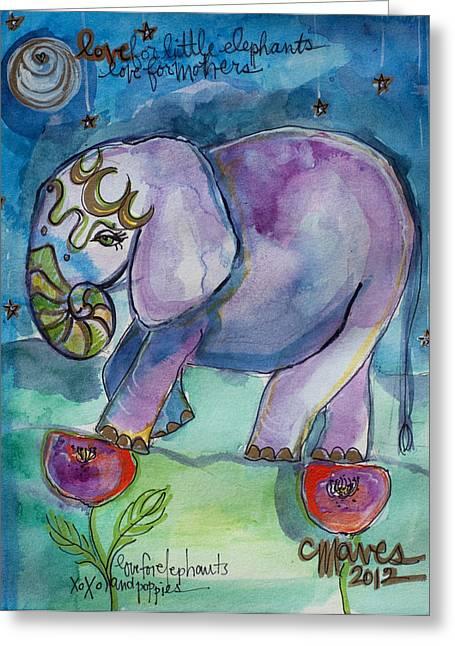Lovely Little Elephant2 Greeting Card