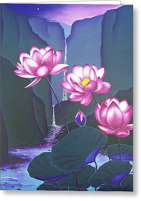 Lovely Lotus Greeting Card