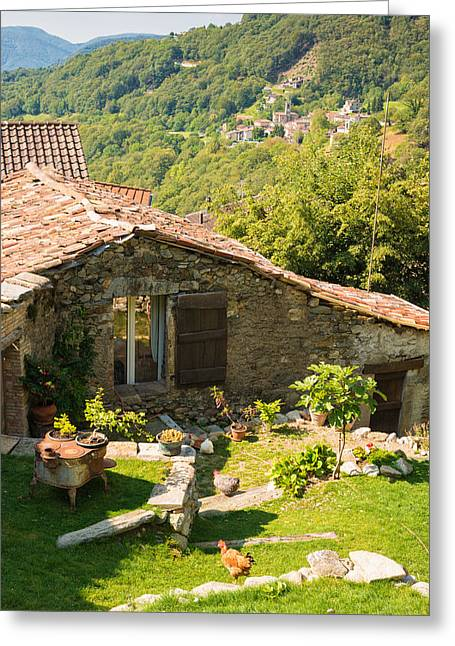 Lovely Old Stone House Ticino Switzerland Greeting Card by Matthias Hauser