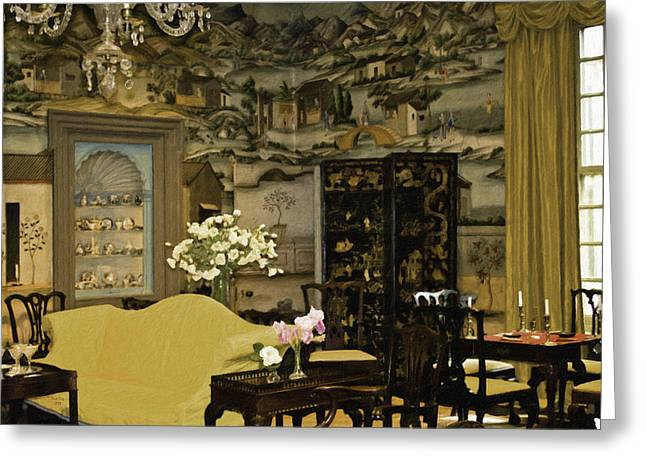 Lovely Room At Winterthur Gardens Greeting Card by Trish Tritz