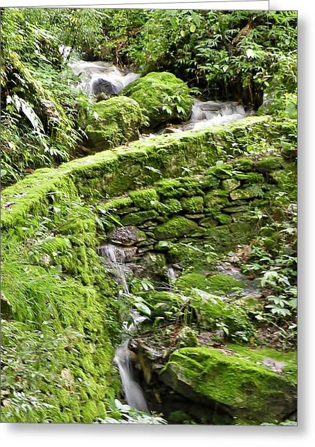 Lovely Waterfall Greeting Card