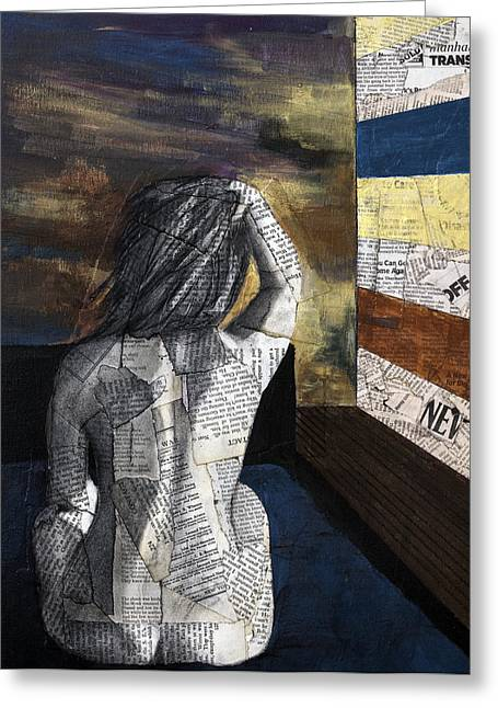Lover In A Hotel South Of Houston Street Greeting Card by Giorgio Russo