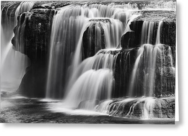 Lover Lewis Falls Panorama Greeting Card by Mark Kiver