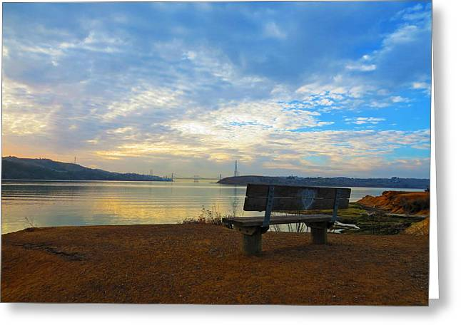 Lovers Bench Greeting Card by Brian Maloney