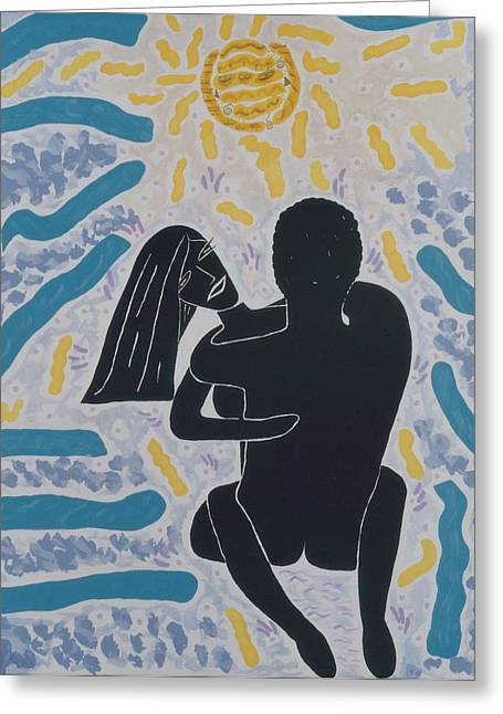 Lovers In Light Greeting Card by Elle Nicolai