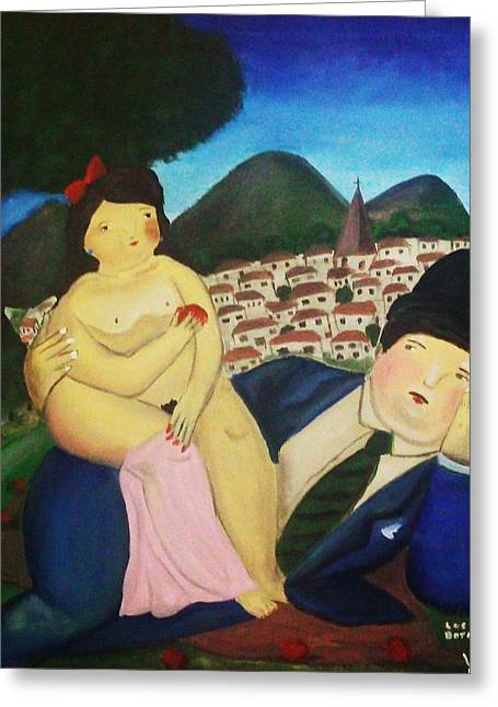 Lovers In Park Greeting Card