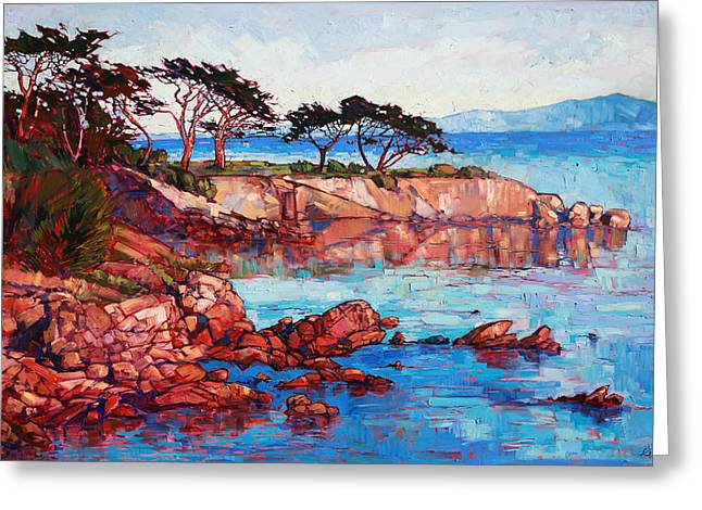 Lovers Point Greeting Card by Erin Hanson