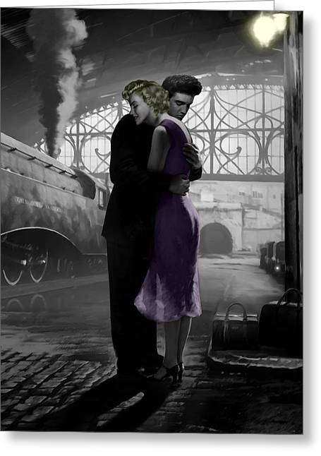 Loves Departure Greeting Card by Chris Consani