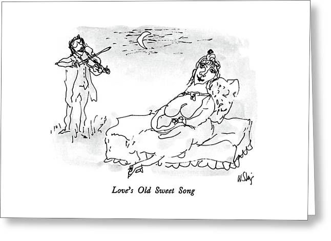 Love's Old Sweet Song Greeting Card