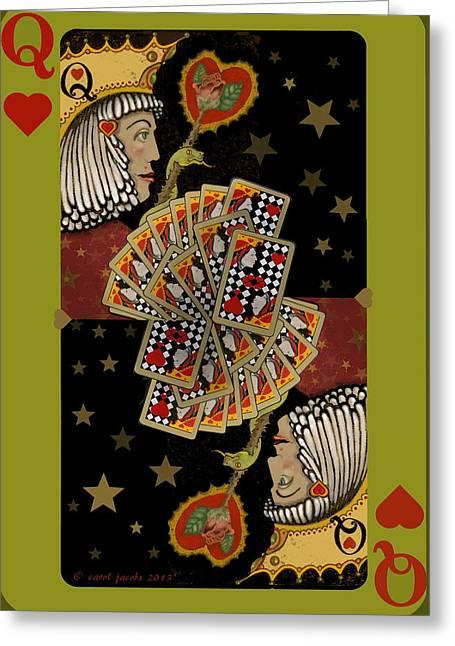 Love's Winning Card Greeting Card by Carol Jacobs
