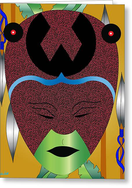 Lovey Mother Of Creation Greeting Card by Charles Smith