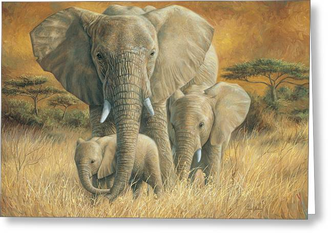 Loving Mother Greeting Card by Lucie Bilodeau