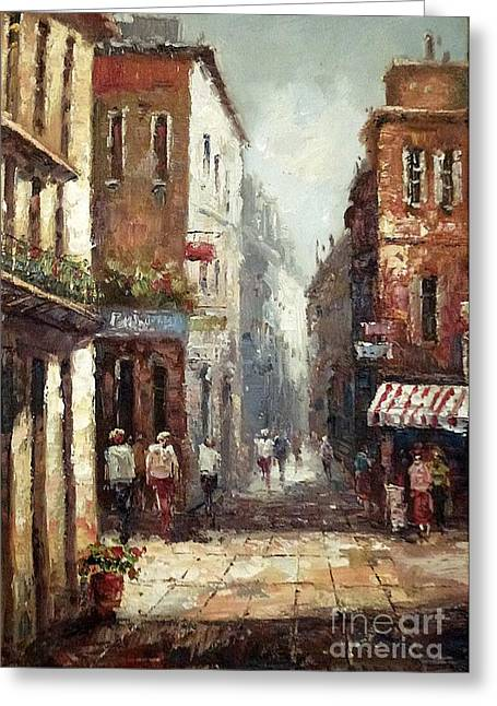 Loving Narrow Streets Greeting Card