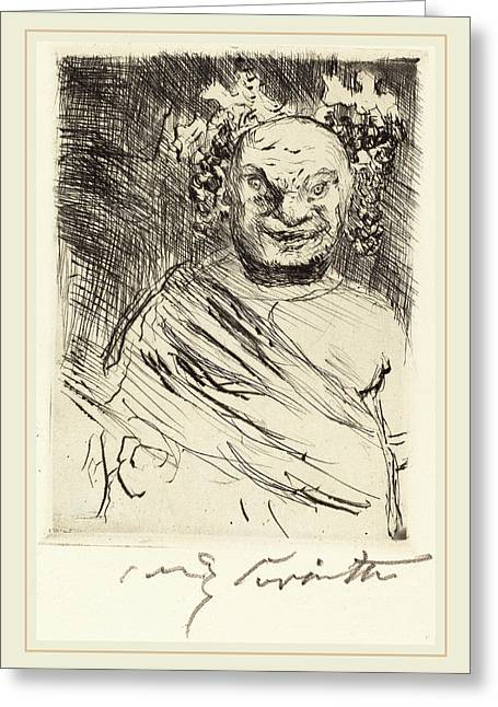 Lovis Corinth, The Banquet Of Trimalchio Pl Greeting Card by Litz Collection
