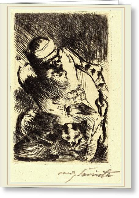 Lovis Corinth, The Cat Of The Prophet Die Katze Des Greeting Card by Litz Collection