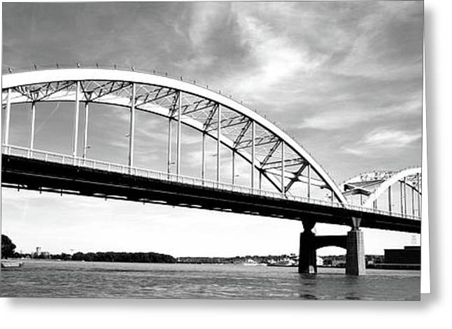Low Angle View Of A Bridge, Centennial Greeting Card by Panoramic Images